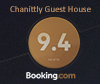 Chantilly Guest House Rating on Booking.com - 9.4/10